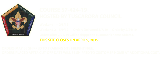 Tuscarora Council - Wood Badge Web Store